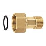 Сгон для водомера усиленный никель (1шт.)