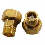 Сгон для водомера с обратным клапаном (1шт.)